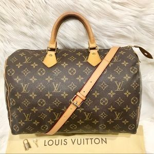 Authentic Louis Vuitton Speedy 35 Tote #9.5P